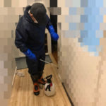 配管破裂に伴う特殊清掃