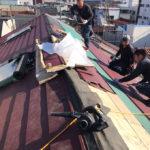 東京都台東区台風による屋根破損復旧工事